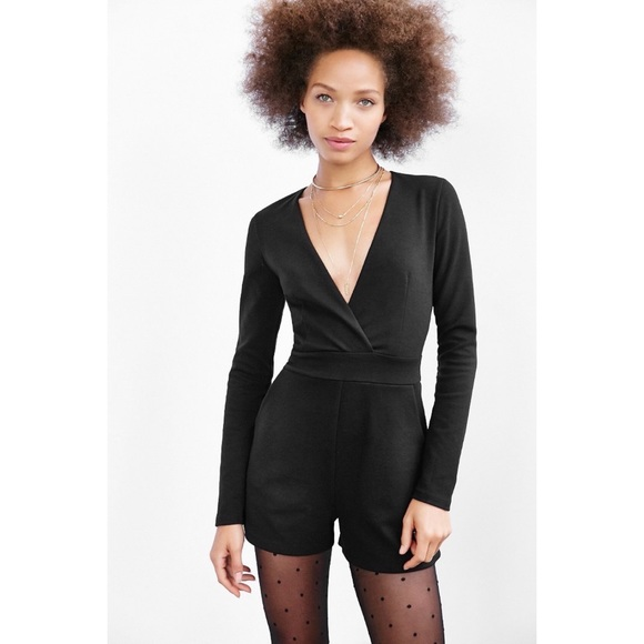 Urban Outfitters Pants - URBAN OUTFITTERS silence + noise black romper S